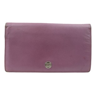 Chanel CHANEL Bifold Wallet Purse Leather Pink