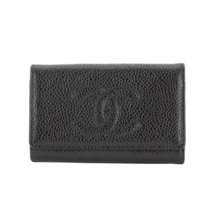 Chanel Chanel Black Caviar Leather Key Case