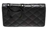 Chanel Chanel Black Lambskin Leather CC Cambon Medium Wallet