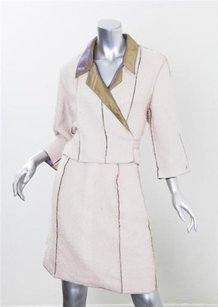 Chanel Chanel Boutique 99p Womens Cream Inside-out Cropped Jacket Skirt Suit Outfit