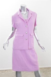Chanel Chanel Boutique Womens Pink Boucle Piece Dress Skirt Jacket Top Suit Outfit