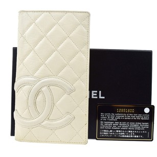 Chanel CHANEL CC Logos Cambon Quilted Long Bifold Wallet