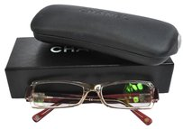 Chanel CHANEL CC Logos Reading Glasses Eye Wear Red Rhinestone Vintage