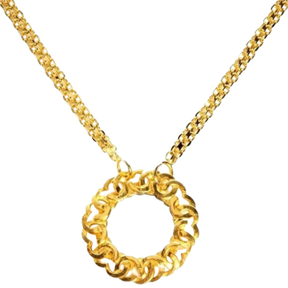 Chanel CC Trim Mirror Pendant With Bismarck Chain CCGR40 ...