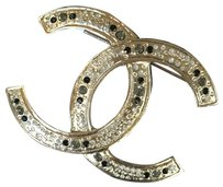 Chanel Chanel Classic CC Gold Crystal XL Brooch