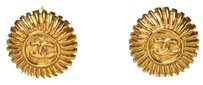 Chanel Chanel Gold Round CC Clip On Earrings