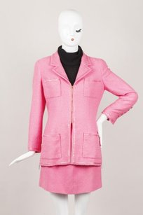 Chanel Chanel Hot Pink Skirt Suit