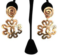 Chanel CHANEL ICONIC VINTAGE SUNBURST CC EARRINGS