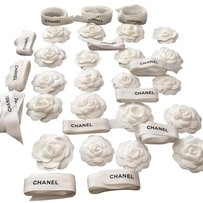 Chanel Chanel Lots Of 20 Pieces White Fabric Camellia Flower