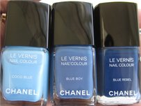 Chanel Chanel Nail Polishes - Blue Boy, Blue Rebel, Coco Blue