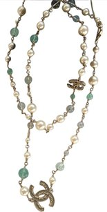 Chanel CHANEL Pearl CC Long Necklace