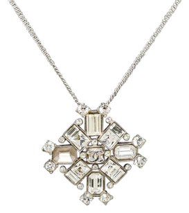 Chanel Chanel Silver Jeweled Pendant 00A Necklace 202061