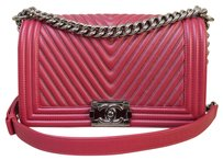 Chanel Chevron Boy Medium Shoulder Bag