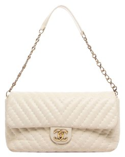 Chanel Chevron Surpique Flap Classic Shoulder Bag