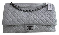Chanel Classic Boy silver Travel Bag