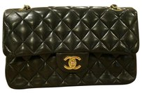Chanel Classic Double Flap Gold Hardware Lambskin Quilted Shoulder Bag