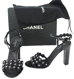Chanel Camellia Black Pumps