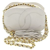 Chanel Gold White Clutch