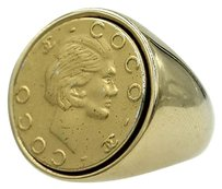 Chanel Coco Chanel 18 Karat Yellow Gold Signet Ring