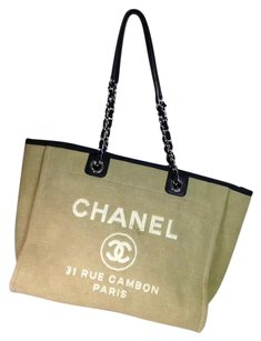 Chanel Deauville Denim Large Tote in Brown