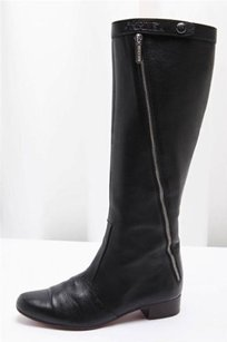 Chanel Leather Zipper Black Boots