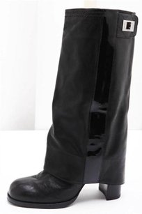 Chanel Leather Sheath Black Boots