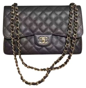 Chanel Gold Hardware Jumbo Shoulder Bag