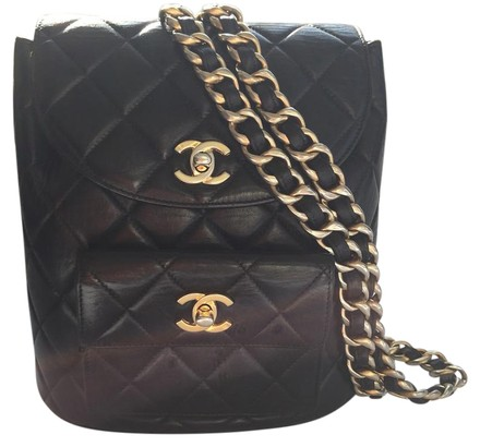 54b3162aa551c Gucci Black Canvas Leather Hobo Bag - Tradesy Chanel Backpack - Tradesy