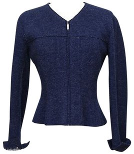Chanel Basic Jacket Blue Blazer
