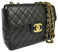 Chanel Jumbo Quilted Double Shoulder Bag