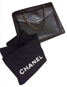 Chanel Leather Monogram Vintage Satchel in Black