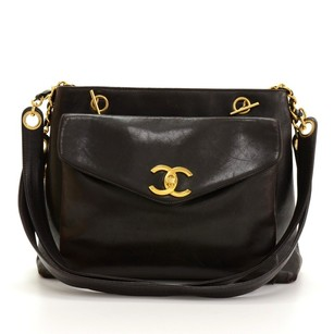 Chanel Leather Tote Shoulder Bag