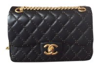 Chanel Limited Eidition Mini Flap And Gold Shoulder Bag