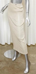 Chanel 99p Womens Casual Maxi Skirt Beige