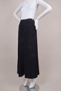 Chanel Vintage Side Maxi Skirt Black