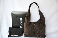 Chanel Dark Brown Suede Cross Body Bag