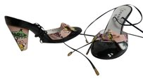 Chanel New Never Worn One Owner Black Patent leather with Pink multi print Formal