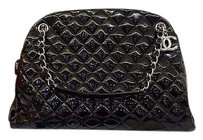 Chanel Patent Quilted Tote in Black