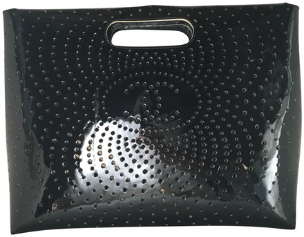 Preload https://item4.tradesy.com/images/chanel-perforated-black-patent-leather-clutch-23329923-0-1.jpg?width=440&height=440