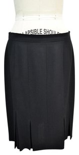 Chanel Boutique Wool Skirt Black