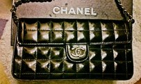 Chanel Purse Faux Patent Shoulder Bag