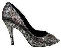 Chanel Python Silver Gold Black Metallic Pumps