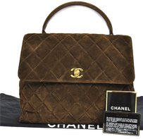Chanel Quilted Cc Logos Hand Tote in Brown