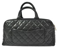 Chanel Quilted Hand Caviar Tote in Black
