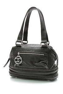 Chanel Leather Square Satchel in Black