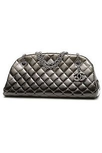 Chanel Patent Leather Satchel in Degrade (gray)