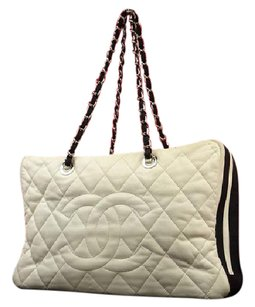 Chanel Satchel Duffle Diaper Tote in Black x White