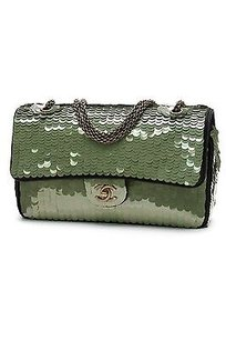 Chanel Sequin Classic Satchel in Green