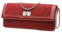 Chanel Quilted Jersey Satchel in Red