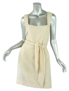 Chanel short dress Beiges Lightweight Sleeveless Shift Belt Or Scarf 840 on Tradesy